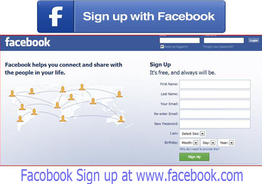 Facebook Sign Up – www.facebook.com Sign up for new account