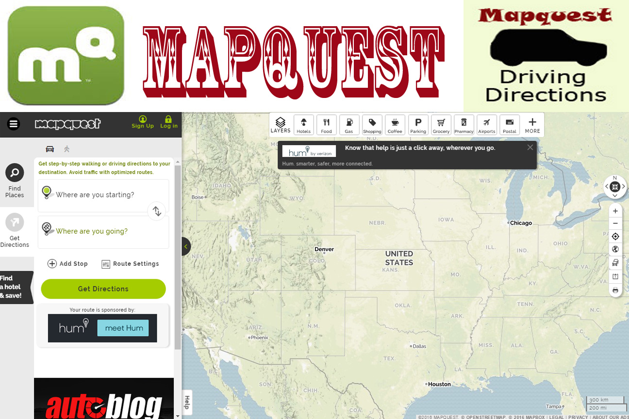 Mapquestcom Directions And Map Free Image - Map united states america mapquest