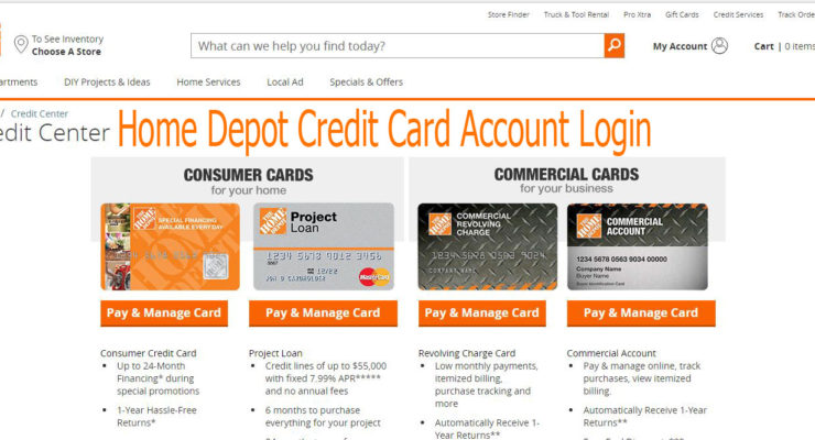 Home Depot Credit Card Account Login | Customers Credit Card Online Sign on