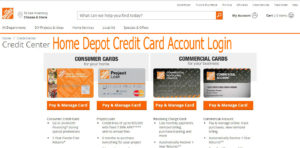 Home Depot Credit Card Account Login   Customers Credit Card Online Sign on