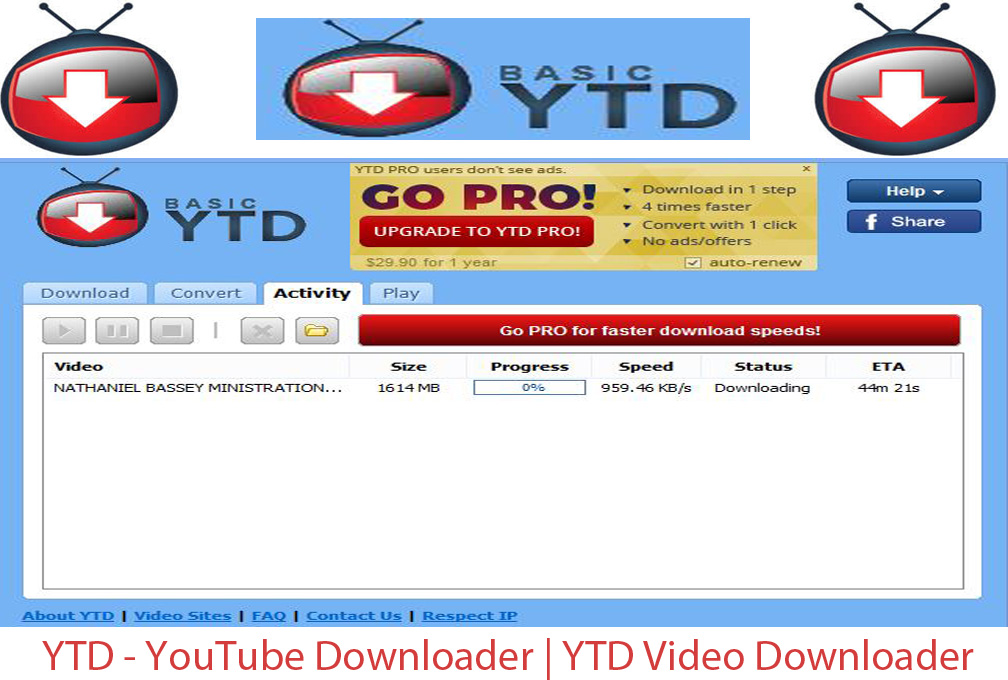 problem downloading youtube videos with ytd