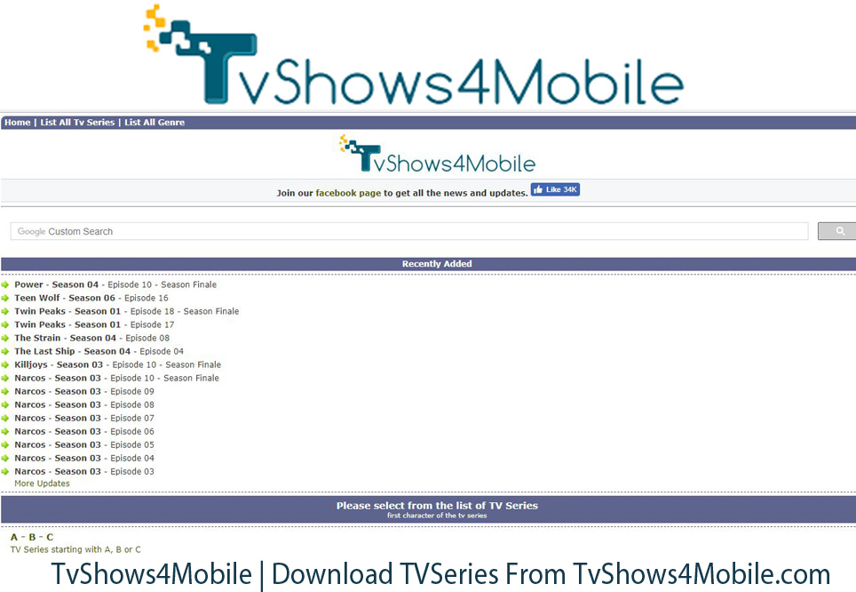 TvShows4Mobile