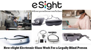 How eSight Electronic Glasses Work For Legally Blind Person