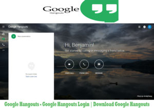 how to change hangouts login