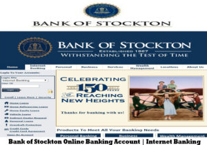 Bank of Stockton Online Banking Account | Internet Banking