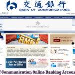 Bank of Communication Online Banking Account Login