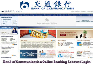 Bank of Communication Online Banking Account Login