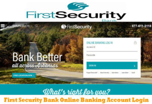 First Security Bank – First Security Bank Online Banking Account Login