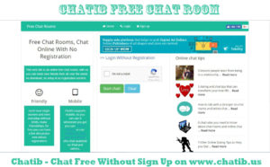 Chatib – Chat Free Without Sign Up on www.chatib.us