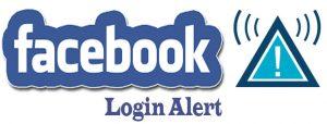 Facebook Login Alert