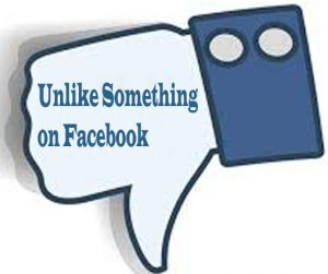 How to Unlike Something on Facebook