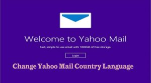 Change Yahoo Mail Country Language