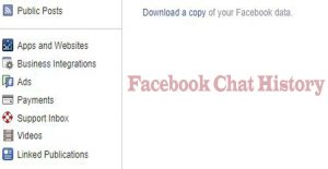 Facebook Chat History