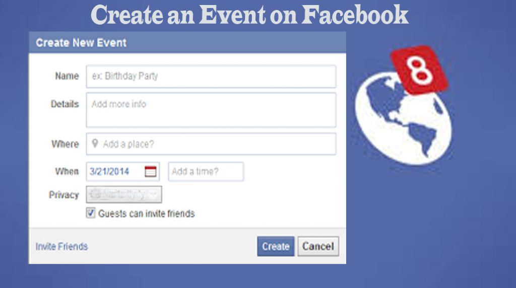 Create an Event on Facebook