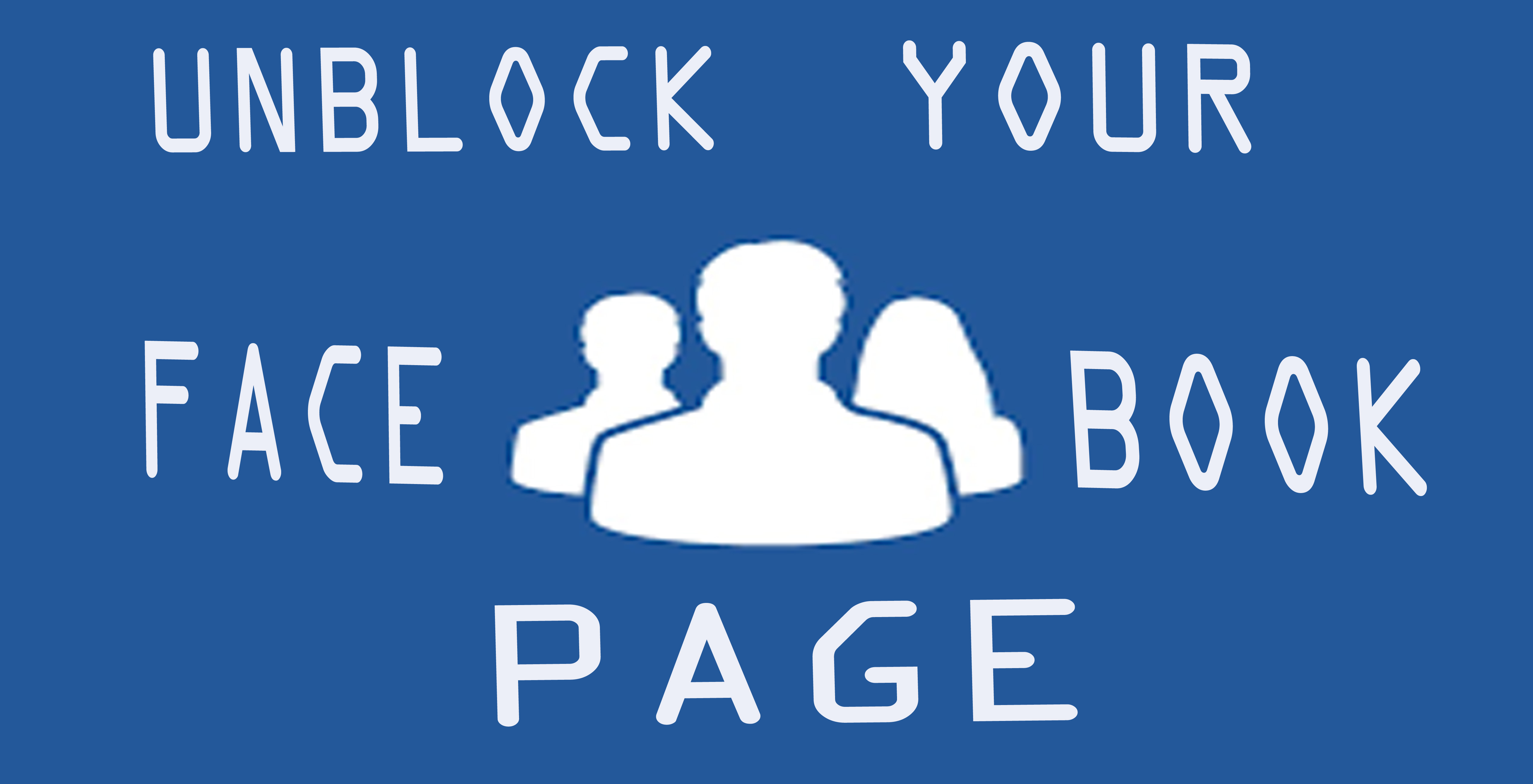 unblock your facebook page