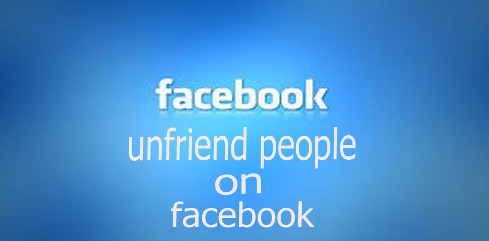 unfriend people on facebook