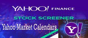 Yahoo Market Calendars - How to Access and Use Yahoo Markets