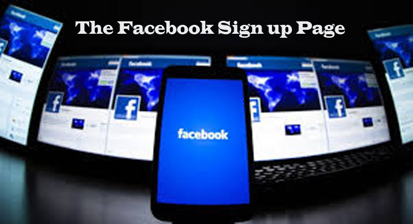 The Facebook Sign up Page