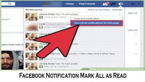 Facebook Notification Mark All as Read