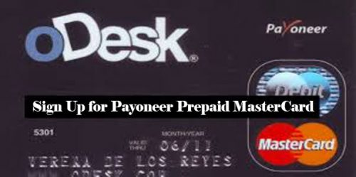 Sign Up for Payoneer Prepaid MasterCard