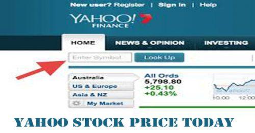 Yahoo Stock Price Today - Yahoo Stocks