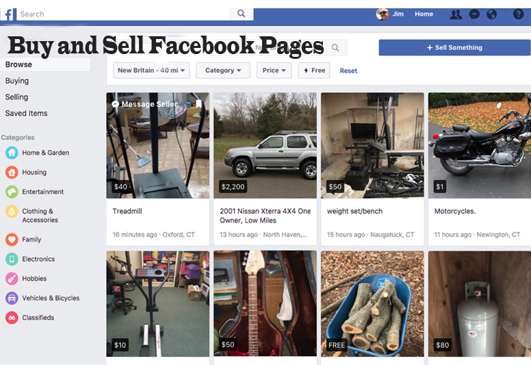 Facebook Buy and Sell Facebook Pages