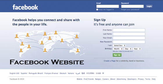 Facebook Website - How to Access Facebook Website