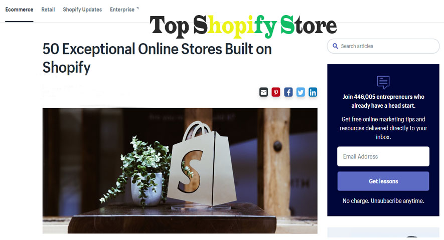 Top Shopify Store - How to Create an Online Store