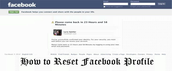 How to Reset Facebook Profile - Facebook Profile