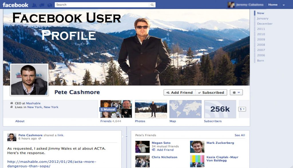 Facebook User Profile - Facebook Account