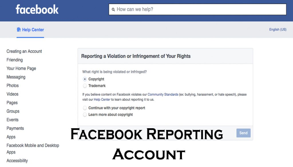 Facebook Reporting Account - Facebook Account