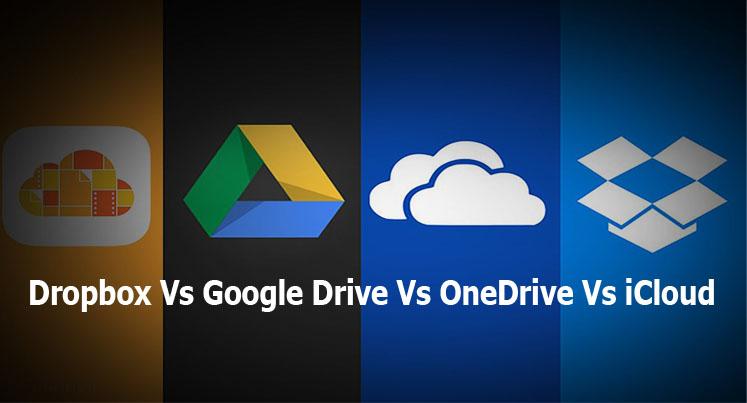 Dropbox Vs Google Drive Vs OneDrive Vs iCloud - Online