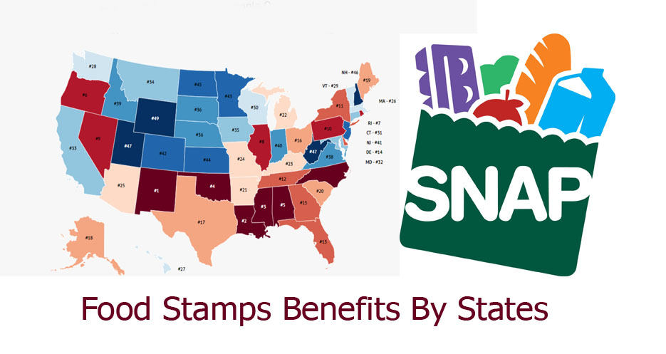 Food Stamps Benefits By States